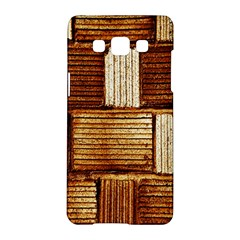 Brown Wall Tile Design Texture Pattern Samsung Galaxy A5 Hardshell Case