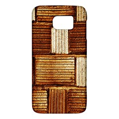 Brown Wall Tile Design Texture Pattern Galaxy S6