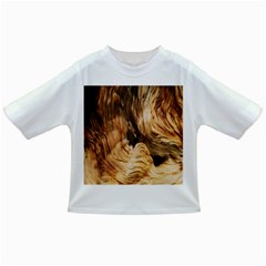 Brown Beige Abstract Painting Infant/Toddler T-Shirts