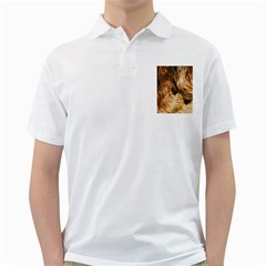 Brown Beige Abstract Painting Golf Shirts