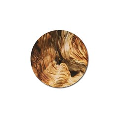 Brown Beige Abstract Painting Golf Ball Marker