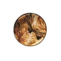 Brown Beige Abstract Painting Hat Clip Ball Marker (10 pack)