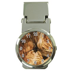Brown Beige Abstract Painting Money Clip Watches
