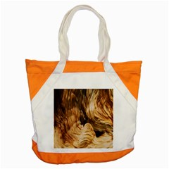 Brown Beige Abstract Painting Accent Tote Bag