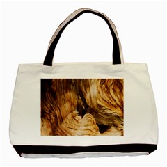 Brown Beige Abstract Painting Basic Tote Bag (Two Sides)