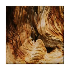 Brown Beige Abstract Painting Face Towel