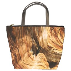 Brown Beige Abstract Painting Bucket Bags
