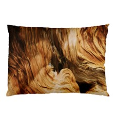 Brown Beige Abstract Painting Pillow Case