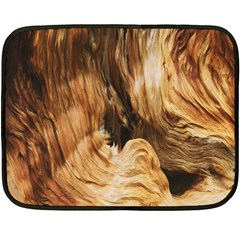 Brown Beige Abstract Painting Double Sided Fleece Blanket (Mini)