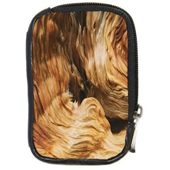 Brown Beige Abstract Painting Compact Camera Cases