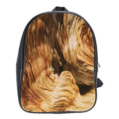 Brown Beige Abstract Painting School Bags(Large)