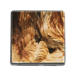 Brown Beige Abstract Painting Memory Card Reader (Square)