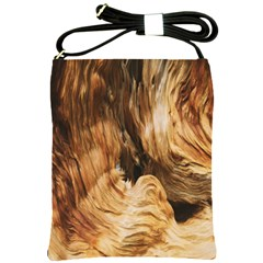 Brown Beige Abstract Painting Shoulder Sling Bags