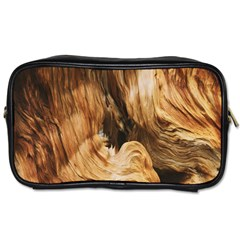 Brown Beige Abstract Painting Toiletries Bags