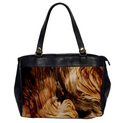 Brown Beige Abstract Painting Office Handbags