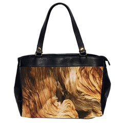 Brown Beige Abstract Painting Office Handbags (2 Sides)