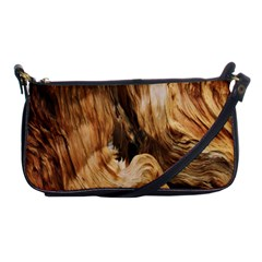 Brown Beige Abstract Painting Shoulder Clutch Bags