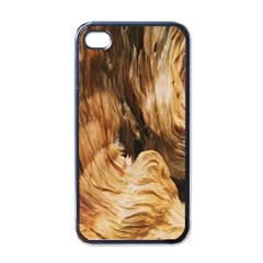 Brown Beige Abstract Painting Apple iPhone 4 Case (Black)