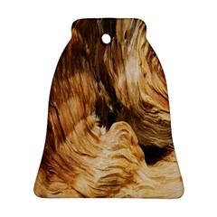 Brown Beige Abstract Painting Bell Ornament (Two Sides)