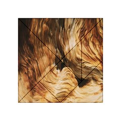 Brown Beige Abstract Painting Acrylic Tangram Puzzle (4  x 4 )