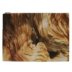 Brown Beige Abstract Painting Cosmetic Bag (XXL)
