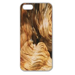 Brown Beige Abstract Painting Apple Seamless iPhone 5 Case (Clear)
