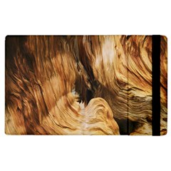 Brown Beige Abstract Painting Apple Ipad 2 Flip Case