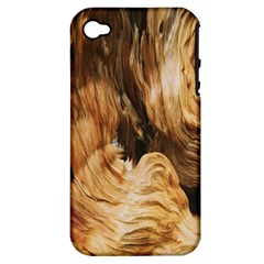 Brown Beige Abstract Painting Apple iPhone 4/4S Hardshell Case (PC+Silicone)