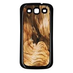Brown Beige Abstract Painting Samsung Galaxy S3 Back Case (black)