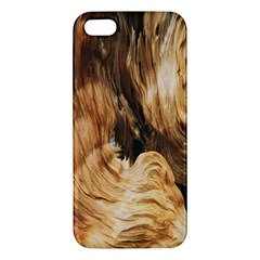Brown Beige Abstract Painting Iphone 5s/ Se Premium Hardshell Case