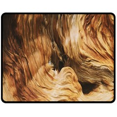 Brown Beige Abstract Painting Double Sided Fleece Blanket (Medium)
