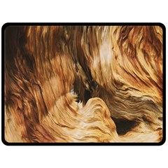 Brown Beige Abstract Painting Double Sided Fleece Blanket (large)