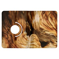 Brown Beige Abstract Painting Kindle Fire Hdx Flip 360 Case