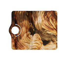 Brown Beige Abstract Painting Kindle Fire Hdx 8 9  Flip 360 Case