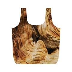 Brown Beige Abstract Painting Full Print Recycle Bags (m)