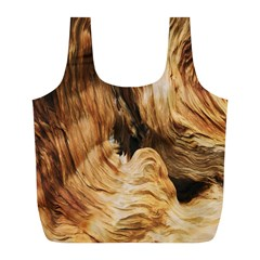 Brown Beige Abstract Painting Full Print Recycle Bags (L)