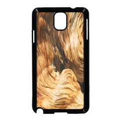 Brown Beige Abstract Painting Samsung Galaxy Note 3 Neo Hardshell Case (Black)