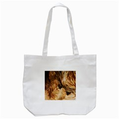 Brown Beige Abstract Painting Tote Bag (white)
