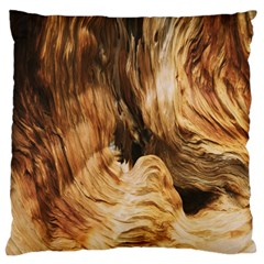 Brown Beige Abstract Painting Large Flano Cushion Case (one Side)