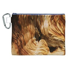 Brown Beige Abstract Painting Canvas Cosmetic Bag (xxl)
