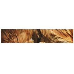 Brown Beige Abstract Painting Flano Scarf (large)