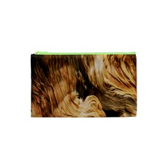 Brown Beige Abstract Painting Cosmetic Bag (XS)