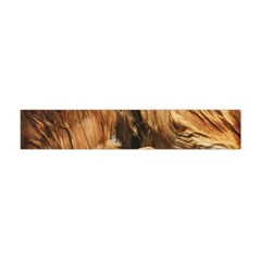 Brown Beige Abstract Painting Flano Scarf (mini)