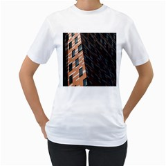 Building Architecture Skyscraper Women s T Shirt (white) (two Sided)