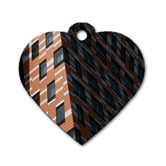 Building Architecture Skyscraper Dog Tag Heart (Two Sides)