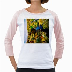 Bridge River Forest Trees Autumn Girly Raglans
