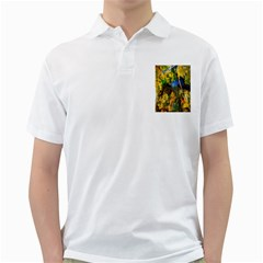 Bridge River Forest Trees Autumn Golf Shirts