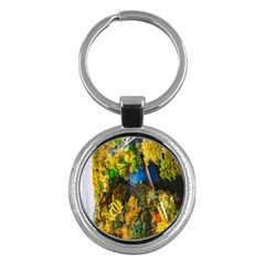 Bridge River Forest Trees Autumn Key Chains (Round)