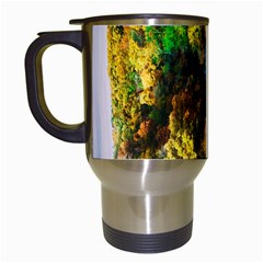 Bridge River Forest Trees Autumn Travel Mugs (White)