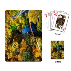 Bridge River Forest Trees Autumn Playing Card